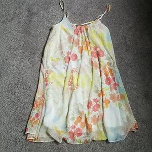 F&F Dress Pastel Floral Tent Sleeveless